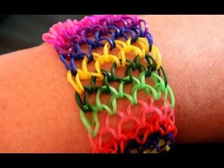 Как сделать браслет из резинок Чешуя Дракона. Rainbow loom bracelet. Dragon scale.