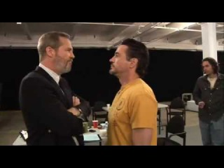 IRON MAN DVD EXTRA — Jeff Bridges and Robert Downey Jr. Rehearsal