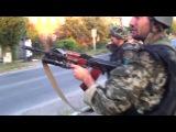 август 2014. Лутугино. Террористы-бандеровцы ради забавы уничтожают РОВД