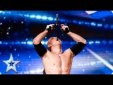 Alexandr Magala risks his life on the BGT stage Week 1 Auditions Britains Got Talent 2016