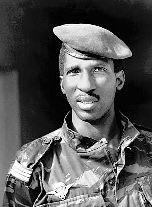 Томас Санкара — президент Буркина-Фасо в 1983—1987 годах. Был прозван «африканским Че Геварой».