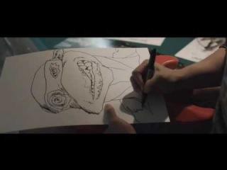 Талантливый рисунок черепашки