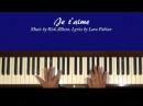 Lara Fabian Je t'aime Piano Tutorial