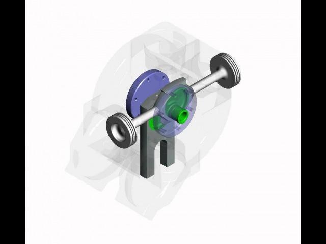 Прринцип работы бесшатунного двигателя