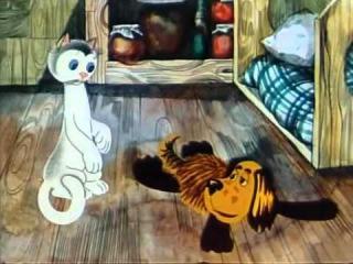Як кошеня і песик мили підлогу