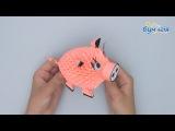 Модульное оригами 3D Свинка OM-6164