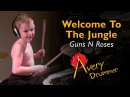 WELCOME TO THE JUNGLE (age 6) Cover by Avery Drummer