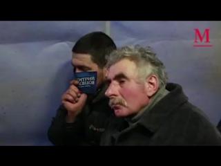 Дмитрий Певцов спел для бездомных в Москве (видео)