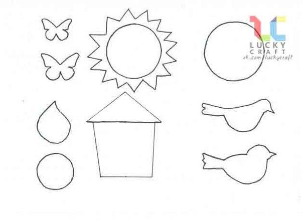 Шаблоны для принтера аппликации из бумаги