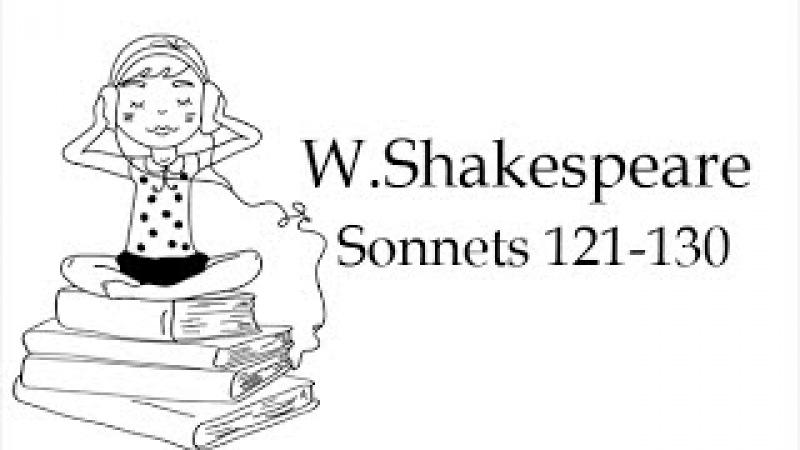 Сонеты Шекспира на английском языке. 121-130