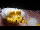 Детские варежки рукавички Ежик вязание спицами подарок своими руками