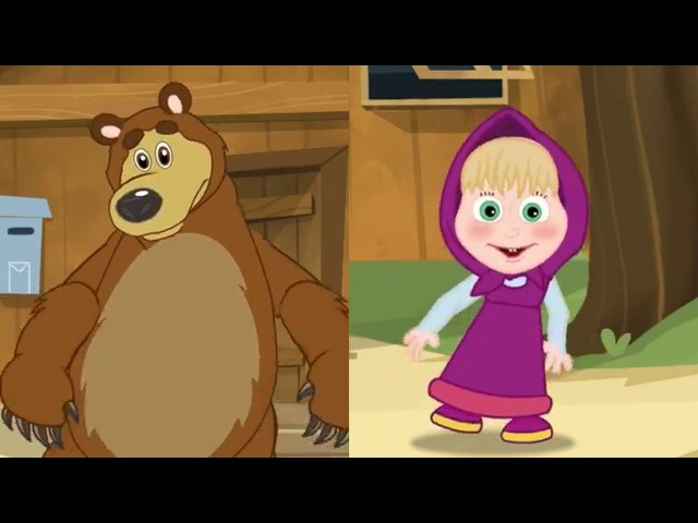 Masha and the Bear If You're Happy And You Know It with Masha and the Bear Nursey Rhymes