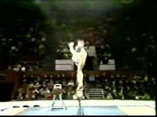 1978 USSR gymnastics display Svetlana Grozdova balance beam
