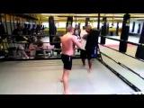 Gokhan Saki training at Mikes Gym Amsterdam