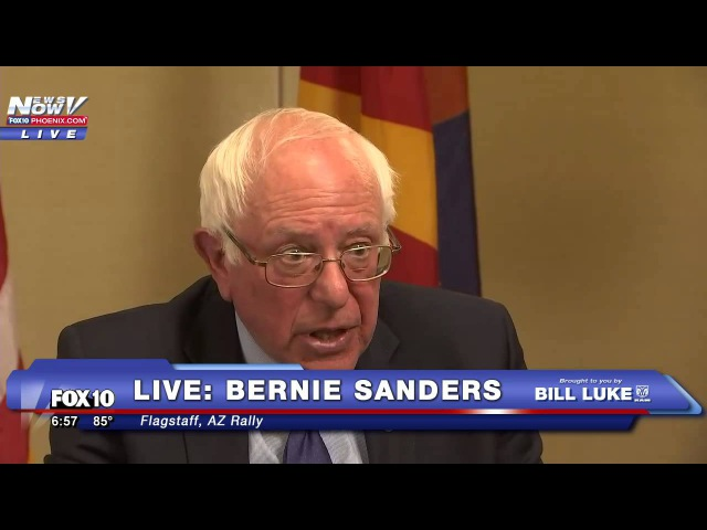FNN: Fox 10 One on One Interview with Bernie Sanders in Flagstaff, AZ - Jessica Flores