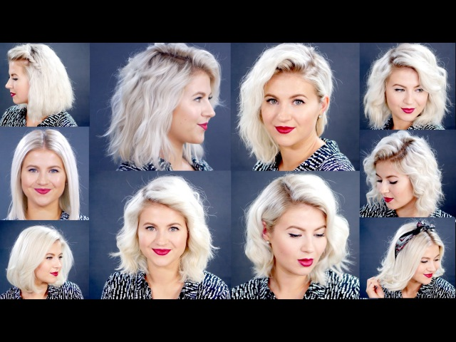HOW TO 10 Easy Short HairStyles With Flat Iron Tutorial | Milabu
