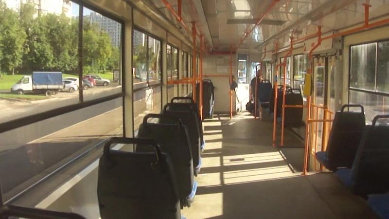 Еду на трамвае 71-405-08 по маршруту 21 от Строгинского бульвара до Таллинской улицы