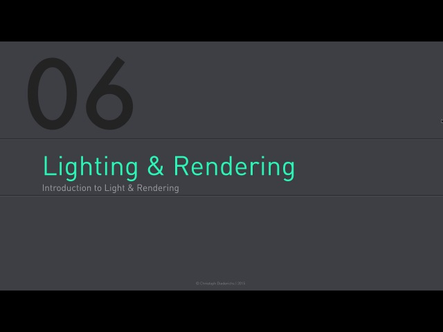 C4D Fundamentals | 06 - Introduction to Lighting & Rendering in Cinema4D