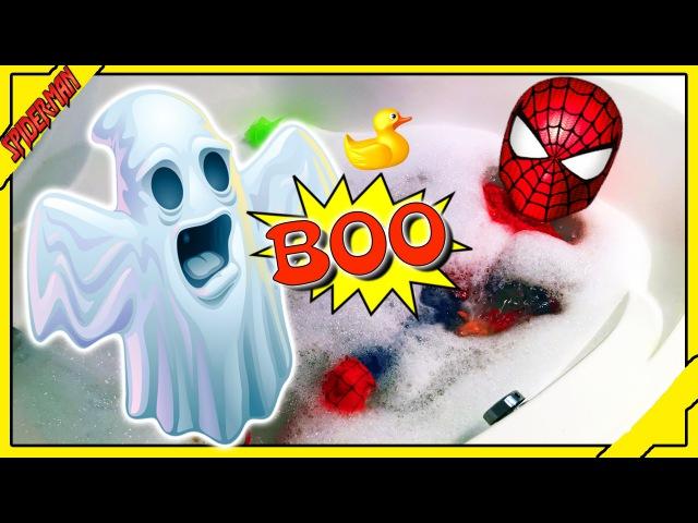 Человек Паук и Приведение ★ Супергерой в Ванной ★ Смешной Паук в реально Жизни
