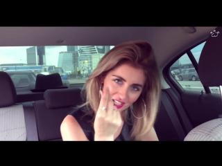 Девушка круто читает рэп в машине (OLISHA),красивая девушка классно читает реп,классно спела,талант,поёмвсети