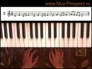 Самоучитель игры на пианино фортепиано Урок 8 Играем упражнения