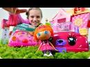 Видео для девочек. Юля и куколки Лалалупси готовят подарок. Лепим из пластилина.