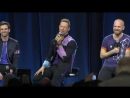 Coldplay at SB50 Press conference talks about Beyonce