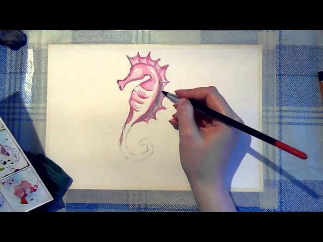 28 Ирина Колобова Урок рисования морского конька