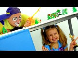 New funny videos. Fishing with Clown Andrew Смешное видео для детей. Клоун Андрей и Ксюша на рыбалке