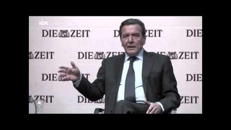 Ex-Kanzler Schröder über den Bruch des Völkerrechts in Jugoslawien 1999 -- Kosovo Krieg Zeit Matinee