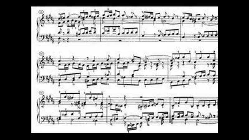Richter plays Bach WTC1 No. 18 in g sharp minor BWV 863