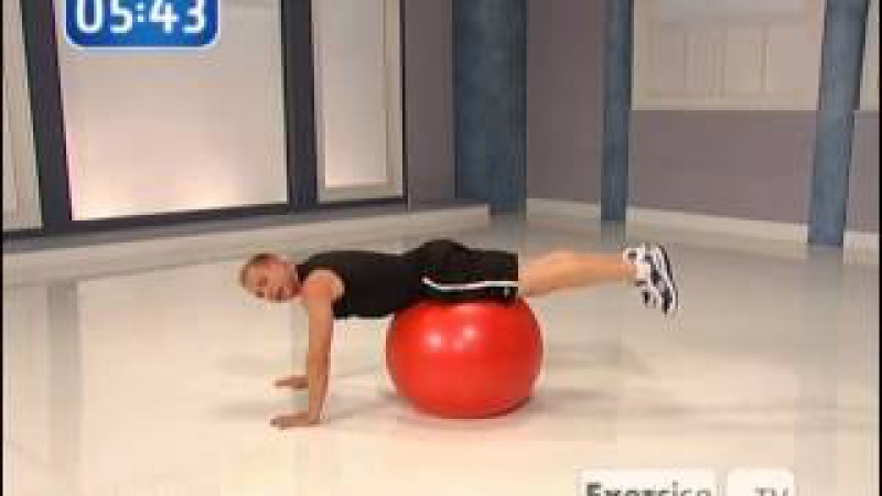 Exercise TV Quick Abs Workout fitball Michael Carson