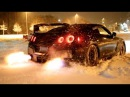 GTR Snow Launch Control Flamethrower!