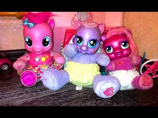 Пони Пинки Пай, Звездочка и Черили. Девочки рассказывают о куклах пони. Как девочки играют в куклы!