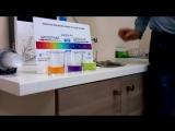 Тест рН воды. Опыт с лакмусом различных вод