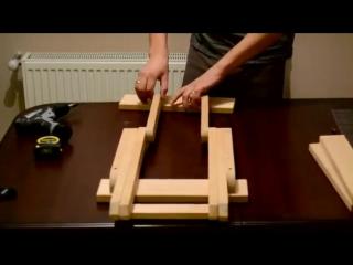 Складная табуретка своими руками.Делаем мебель дома все в деталях чертеж