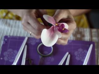 (ТОРТ-РЕЦЕПТ-VK) Орхидея из мастики мастер класс. Как сделать орхидею из мастики, украшение торта орхидеями.