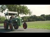 Сумасшедший дрифт на тракторе от развозчика фруктов