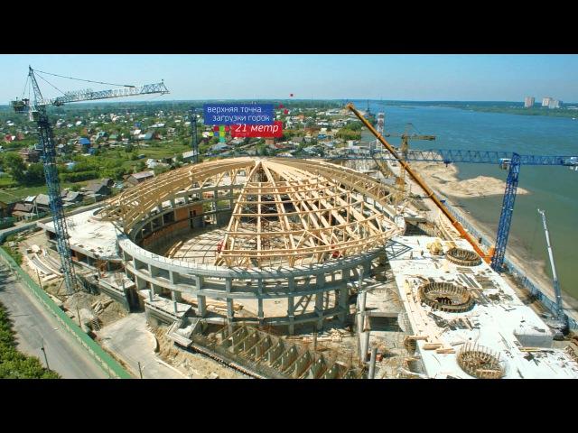 Перспективные стройки Новосибирска Аэросъемка RC-Park