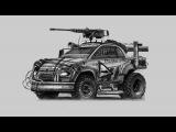 Fiat 500 Metal Mash Speed sketch PART 1 - yasidDESIGN (zombie killer, death race, twisted metal)