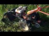 Мотоблок АГРОС(АГРО) с роторной косилкой впереди