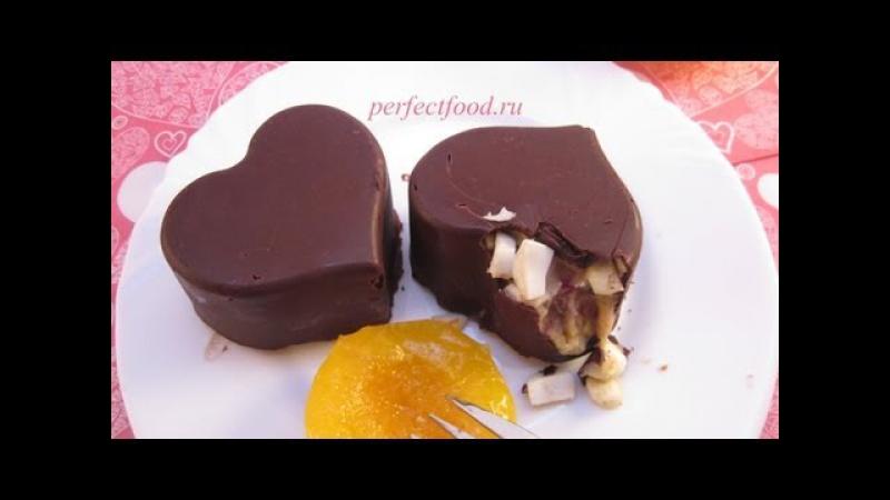 Сладкие валентинки - банановый десерт с шоколадом