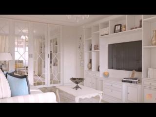 Неоклассика, прованс и шебби-шик, интерьер пятикомнатной квартиры, 104 кв.м.