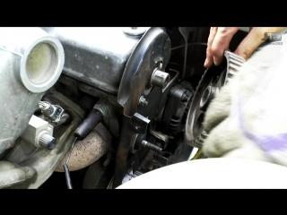 Замена помпы (водяного насоса) и ремня ГРМ на ВАЗ 2114 выставление по меткам