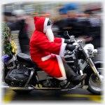 дедушка мороз и мотоцикл