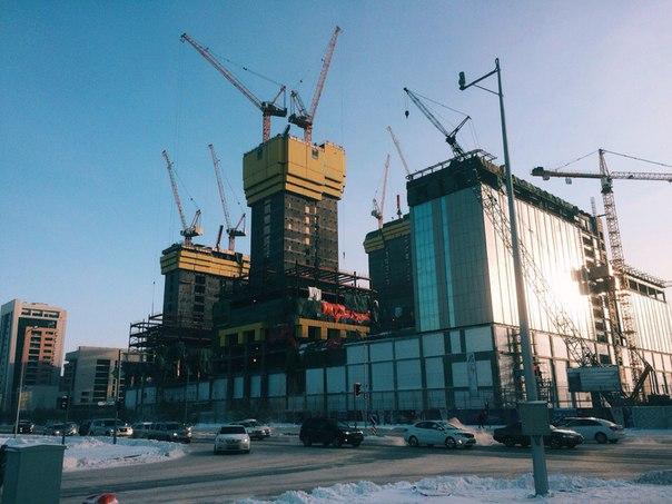 Как строится великое архитектурное сооружение - Abu Dhabi Plaza