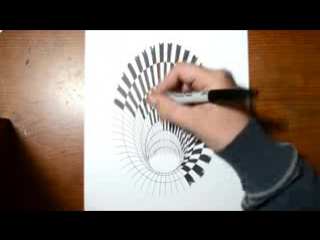 Drawing a Hole - Anamorphic Illusion - YouTube_0_1452156173513