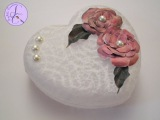 Tutorial Decoupage con carta pizzo e fiori 3D (decoupage with lace paper and 3D flowers) eng-sub