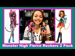 Monster High Fierce Rockers 2 Pack Catty Noir & Toralei Stripe Dolls Review | WookieWarrior23