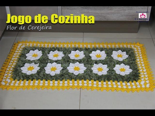 Jogo de Cozinha Cerejeira de Crochê - Professora Simone